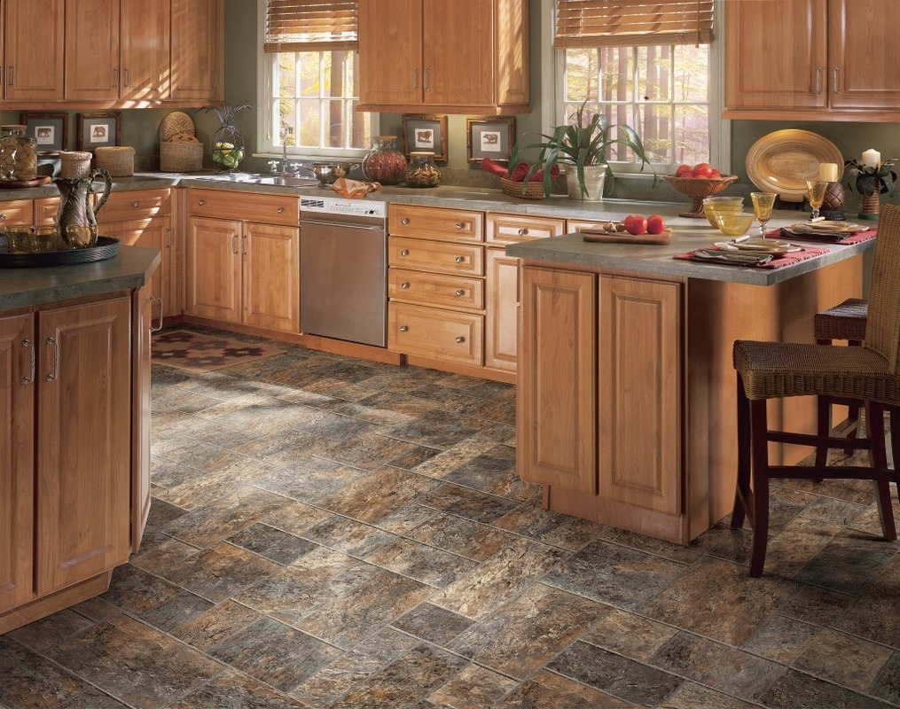 Kitchen Floor Lino Vinyl Fitting Top Flooring